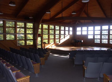 The auditorium is used for writing workshops and readings.